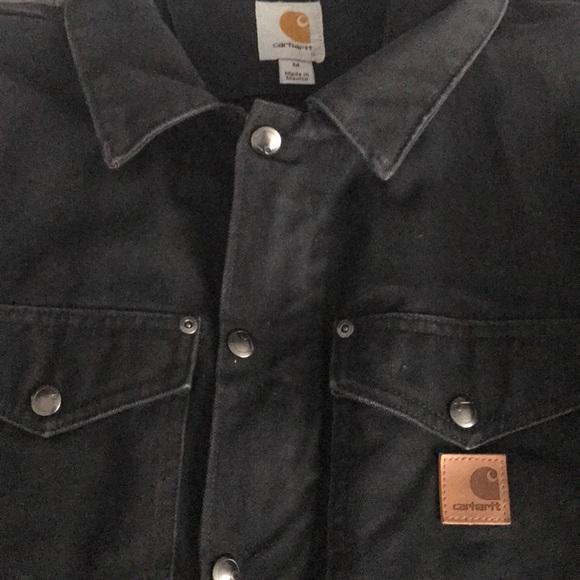 9bd99e2ecb5 Carhartt Jackets & Coats | Berwick Black Heavy Jacket Coat Medium ...